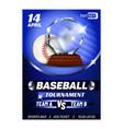 baseball regional sportive award poster vector image vector image