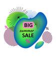 big summer sale memphis liquid banner abstract vector image