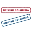 British Columbia Rubber Stamps vector image