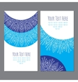 business cardbusiness card with an ornament vector image vector image