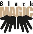cartoon magicians hands black magic vector image