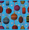 christmas toys festive seamless pattern vector image vector image