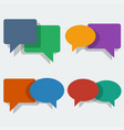 color speech bubbles in flat style vector image vector image