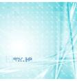 Colourful blue tech design vector image vector image