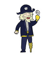 comic cartoon pirate captain vector image