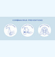 coronavirus covid19-19 preventions tips hand vector image