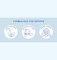coronavirus covid19-19 preventions tips hand vector image