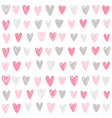 cute paint hand drawn hearts background vector image vector image