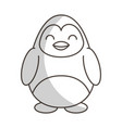 cute shadow penguin cartoon vector image vector image