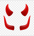 devil horns video chat face icon vector image vector image