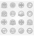 DJ labels or badges vector image