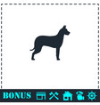 dog icon flat vector image vector image