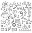 doodle startup sketch smart idea concept vector image