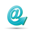 E-mail concept with arrow vector image vector image