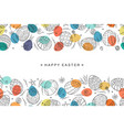 easter egg seamless composition in doodle style vector image vector image