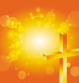 easter jesus cross background 4 vector image