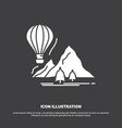 explore travel mountains camping balloons icon vector image vector image