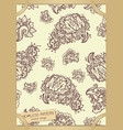 floral seamless pattern in vintage paper frame vector image vector image