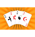 four religious aces vector image vector image