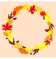 Frame with autumn falling leaves vector image vector image