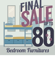 Furniture Sale Up to 80 Percent vector image
