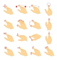 Gestures icons for touch devices vector image vector image
