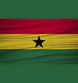 ghana flag flag of ghana blowig in the wind eps vector image
