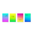 gradient colorful minimal backgrounds vector image vector image