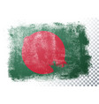 grunge flag bangladesh vector image vector image
