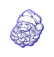 head silhouette santa claus with a luxuriant beard vector image vector image