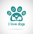image an dog head design and spoor vector image