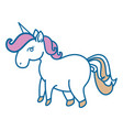 magical unicorns design vector image vector image