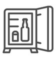 mini bar line icon hotel fridge vector image vector image