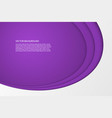 modern simple oval purple and white background vector image vector image