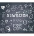 Newborn doodles set vector image vector image