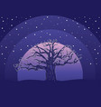 night and big tree vector image vector image