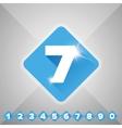 Number set blue - flat design vector image vector image