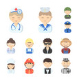people of different professions cartoon icons in vector image