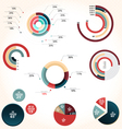 Pie chart style vector image