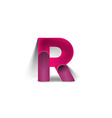 R Alphabet Design vector image
