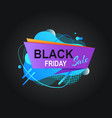 retail cover black friday discount label vector image