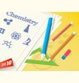 school subject background vector image vector image