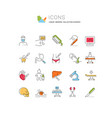 set line icons surgery vector image vector image