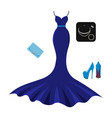 set of fashion evening clothes vector image vector image