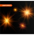 Set of glowing light effect stars bursts with vector image vector image
