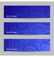 Set of horizontal banners with swirl pattern vector image vector image