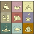 set spa themed icons vector image vector image
