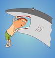 shark teeth inspection vector image vector image