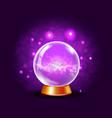 shining crystal or plasma ball on sparkling viole vector image