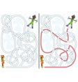 Snow maze vector image vector image